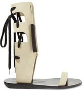 Rick Owens Lace-Up Suede Sandals