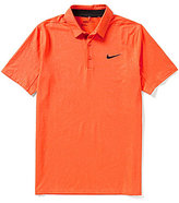 Nike Short-Sleeve Stretch Mobility Embossed Polo Shirt