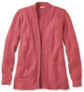 L.L. Bean Women's Cotton Basketweave Sweater, Open Cardigan