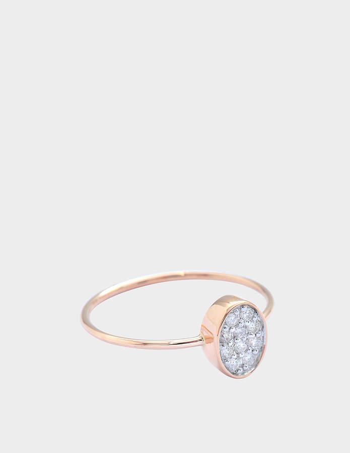 ginette_ny Twenty Ten Diamond 18-karat rose gold ring