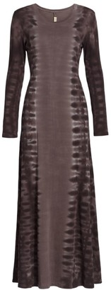 Raquel Allegra Rhea Tonal Long-Sleeve Dress