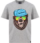 Animal Boys' Todd Graphic T-Shirt, Grey Marl