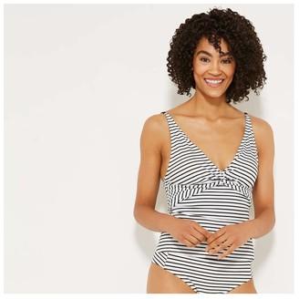 Joe Fresh Women's 3-Way Strap Tankini Top, White (Size XS)