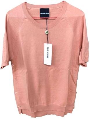 American Retro Pink Cotton Knitwear for Women