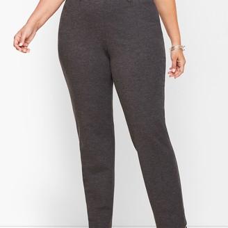 Talbots Plus Size Refined Ponte Straight Leg Pants