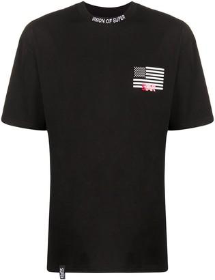 Vision Of Super US flag print T-shirt