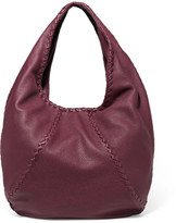 Bottega Veneta Hobo Large Textured-leather Shoulder Bag - Burgundy