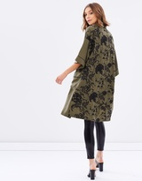 Miss Selfridge Embroidered Back Kimono