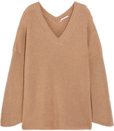 Stella McCartney Oversized Ribbed Wool Sweater - Camel