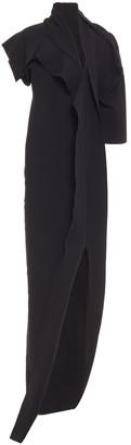 Rick Owens Patti Cutout Draped Knitted Maxi Dress