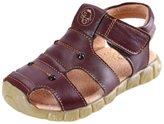 DADAWEN Children Boy's Girl's Leather Closed Toe Outdoor Beach Sandals (Toddler/Little Kid/Big Kid) - 7.5 US