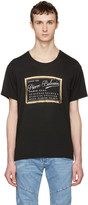 Pierre Balmain Black Logo Print T-Shirt