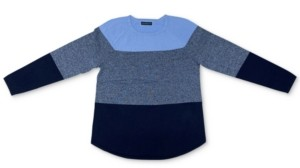 Karen Scott Colorblocked Curved-Hem Sweater, Created for Macy's