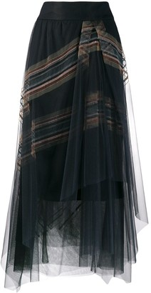 Brunello Cucinelli Layered Skirt