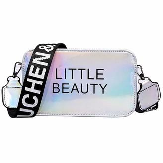Sunday Bag Sunday77 Women New Shiny Small Square Bag Ladies Student Girls Little Beauty Shoulder Bag Messenger Bag Crossbody Silver