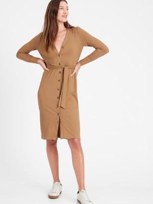 Banana Republic Ribbed-Knit Cardigan Dress
