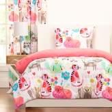 Crayola Purrty Cat Reversible Comforter Set in Pink/White