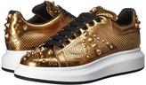 Alexander McQueen Metallic Mirror Leather Sneaker Men's Shoes