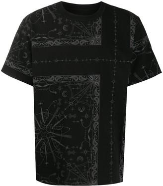 Sacai bandana-print cotton T-shirt