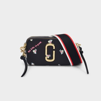 Marc Jacobs Snapshot Bag In Black Leather With Polyurethane Coating