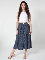 American Apparel Rayon Button Up Long Skirt