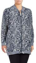 Melissa McCarthy Plus Cheetah-Print Bomber Jacket