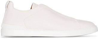 Ermenegildo Zegna Slip-On Leather Sneakers
