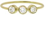 Jennifer Meyer Small Diamond Triplet Ring - Yellow Gold