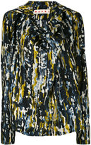 Marni Haze print draped blouse