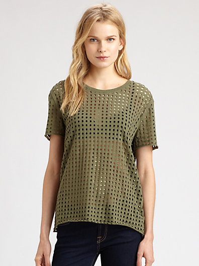 IRO Taylor Perforated Cotton T-Shirt