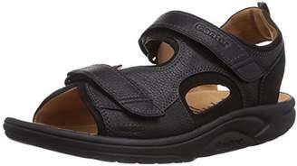 Ganter Men's Aktiv Gero Sandale-g Open Toe, (Schwarz 00), 9.5 UK