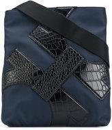 Salvatore Ferragamo Embellished nylon messenger bag - men - Calf Leather/Polyester - One Size