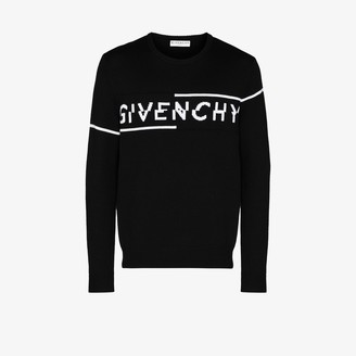 Givenchy Split Logo Wool Sweater