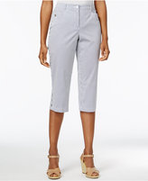 Karen Scott Petite Striped Capri Pants, Only at Macy's