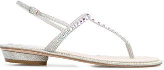 Le Silla Mabel glittered thong sandals