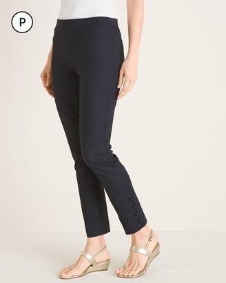 Chico's Petite So Slimming Brigitte Button-Hem Ankle Pants