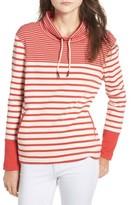 Barbour Women's Rief Stripe Cotton Funnel Neck Sweater