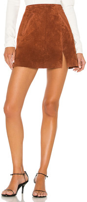 Blank NYC BLANKNYC Dried Tobacco Suede Mini Skirt