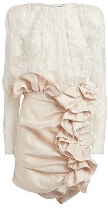 Magda Butrym Lace Ruffle-Trim Bartica Dress
