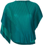Pleats Please By Issey Miyake asymmetric plissé top