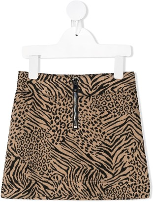 Caffe' D'orzo Mixed Animal Print Skirt