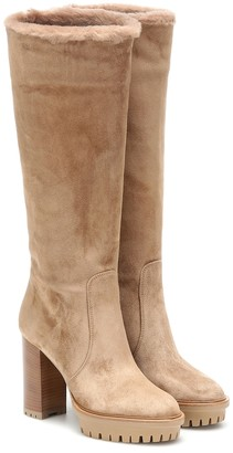 Gianvito Rossi Olen suede knee-high boots