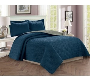 Elegant Comfort Luxury 3-Piece Bedspread Coverlet Majestic Design Quilted Set with Shams - King/California King Bedding