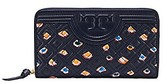 Tory Burch Fleming Printed Zip Continental Wallet