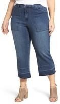 Melissa McCarthy Plus Size Women's Release Hem Crop Jeans