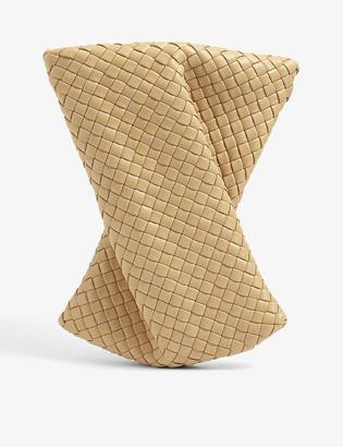 Bottega Veneta Crisscross intrecciato leather clutch bag
