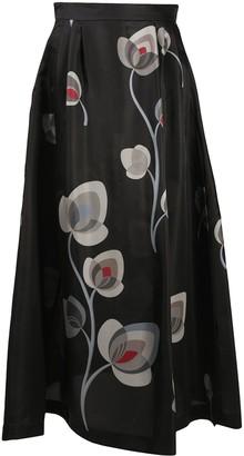 Giorgio Armani Floral Maxi Skirt
