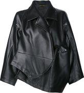 Comme des Garcons oversized jacket - women - Artificial Leather - S