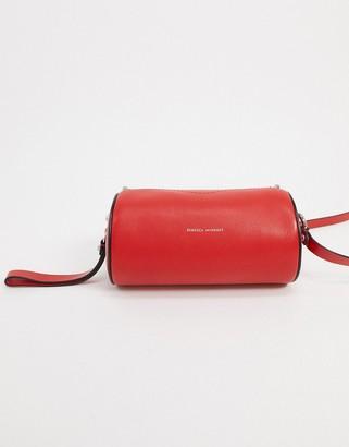Rebecca Minkoff barrel leather cross-body bag in bright red