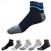 QUANGANG Men's Toe Socks Low Cut Cotton Sports Five Finger 6-Pack